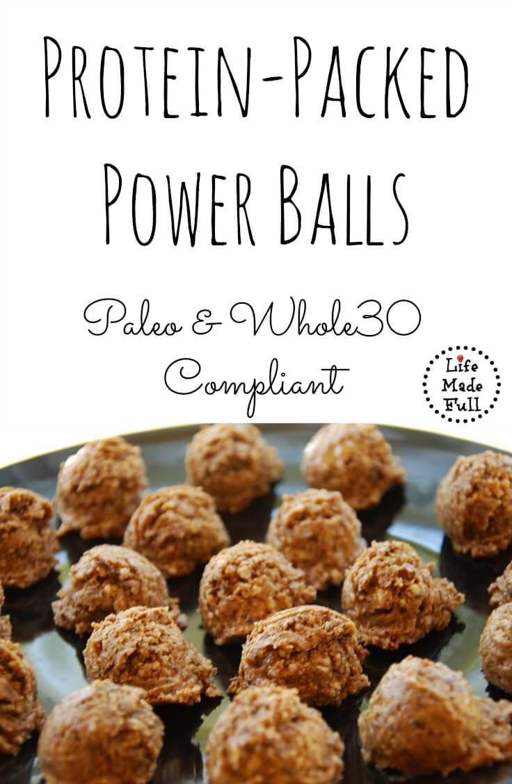 Protein Power Balls (high-fat & high-protein) - Life Made Full