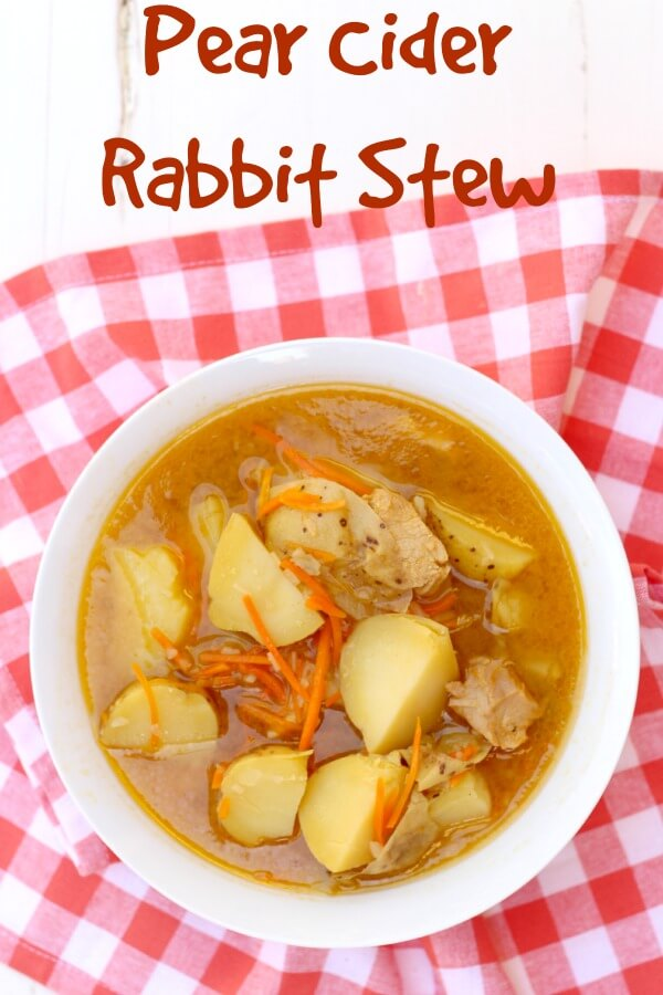 Pear Cider Rabbit Stew--don't be scared by the name!